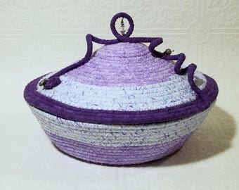 Coiled Bowl with Lid