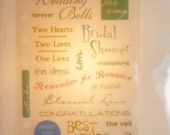 Wedding Bells-Phrase Cafe/Scrapbooking Stickers- photo safe