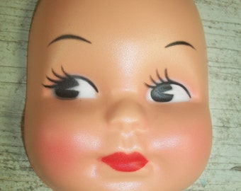 Variation Four Inch Vintage Celluloid Style Plastic Doll Face