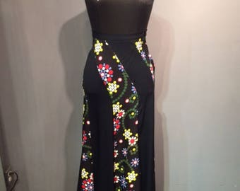 Maxi Floral 70s Skirt