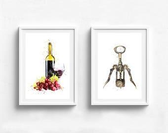 Kitchen poster, kitchen wall art, vintage poster, funny kitchen print, art for kitchen, wine poster, wine wall art, wine lover gift wall art