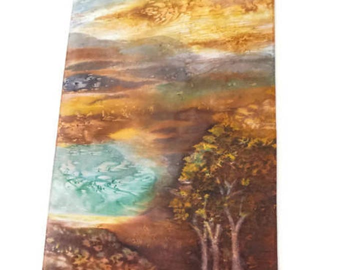 Southwestern Decor-Watercolor Silk Tapestry-Desert Decor-Abstract Landscape-Nature Tapestry-Western Gifts-Wall Hanging-Watercolor Home Decor