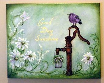 16X20 Springtime Acrylic Painting epattern called Good Day Sunshine
