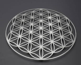 Flower of Life Metal Wall Art Sculpture, Sacred Geometry Wall Art, Modern Metal Wall Art, Large Metal Wall Decor, Loft Wall Art, Silver Art