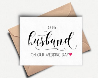 Groom Card, To My Husband On Our Wedding Day, To My Groom Card, Wedding Day Card Groom, Groom Card Wedding Day, Groom Gift From Bride, Love