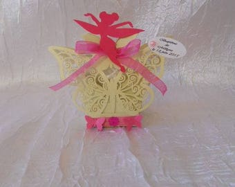 """Container with lozenge baptism themed Butterfly / Fairy """"without the sweets"""""""