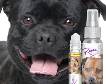 Staffordshire Bull Terrier Relax Dog Aromatherapy - Is Your Pit Bull Afraid of Thunder or Fireworks? Try All Natural, Handcrafted Relax