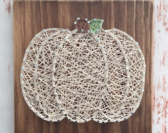 String Art - Pumpkin String Art - Fall Decor - Halloween Decor - Seasonal Decor - Thanksgiving Decor - Housewarming Gift - Holiday Gift