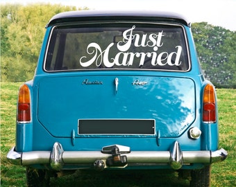 JUST MARRIED Decal  - Wedding wall / car / surface graphics by GraphicsMeshs