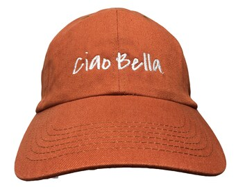 Ciao Bella (Polo Style Dad Caps - Various Colors with White Stitching)
