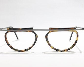 Vintage 1990's Handmade Select Tortoiseshell Artsy Eyeglass Frame