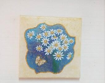 Daisies wall decor, Wall decoration, Flower wall decor, Home decoration, Canvas art, Wall art, Art canvas, Wall art canvas, Wall art decor,