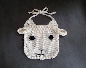 Cotton bib crochet