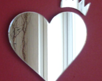 Heart and Crown Mirror - 5 Sizes Available