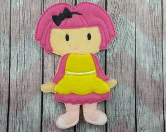 Crumb Felt Doll, Non Paper Doll, rag doll inspired, flat felt doll