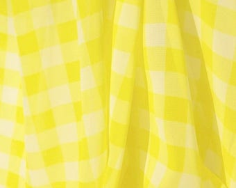 Yellow Gingham Georgette - 58 Inches Wide