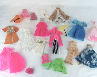 Topper Dawn Dolls Outfits and (26) Pieces Total, Dawn Clothes, Topper Dolls Outfits, 70s Dolls