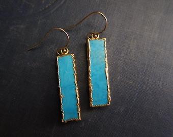 Turquoise Earrings,Turquoise Earrings Gold,Turquoise Dangle Earrings,Everyday Turquoise Earrings,Turquoise Jewelry,Everyday Earrings Gold