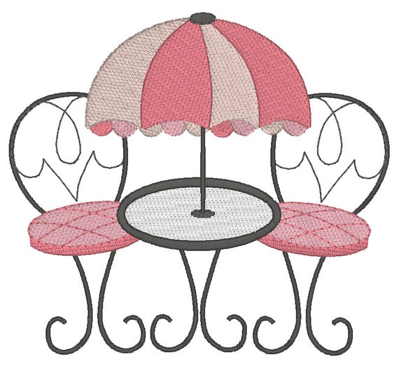 French Cafe Setting Machine Embroidery Design Al Fresco Dining Paris Cafe Table u0026 Chairs Design 3 Sizes Instant download No JGS00035-1 from ...  sc 1 st  Etsy Studio & French Cafe Setting Machine Embroidery Design Al Fresco Dining ...