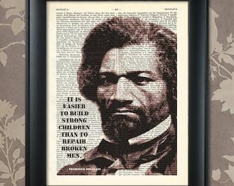 Frederick Douglass, Quote, Frederick Douglass, Print, Frederick Douglass, Art, African American Art, Black History Print, Black Lives Matter