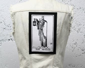 The Hermit Tarot Card Back Patch