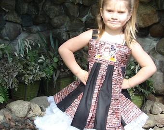 custom boutique twirl dress made with ralph patch  size 2-6