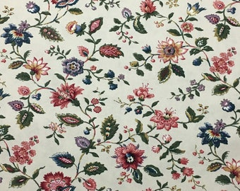 Jacobean Floral Fabric Waverly Longford Cotton Drapery Upholstery Fabric
