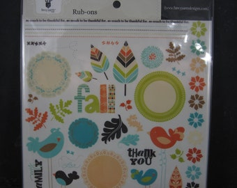 Fancy Pants Summers End Scrapbooking Rub Ons Discontinued