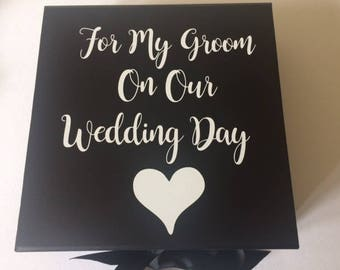 Groom Gift Box, For my groom on our Wedding Day, Gift Box for Groom, Gift from the Bride, Wedding Day Gift Box,