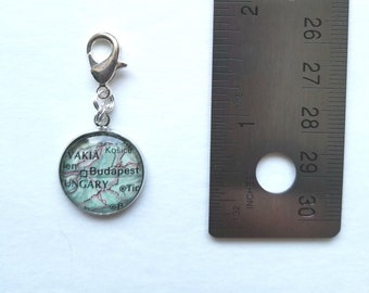 Budapest, Hungary Map Charm / Planner Charm