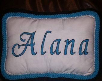 Name keepsake custom pillow any colors