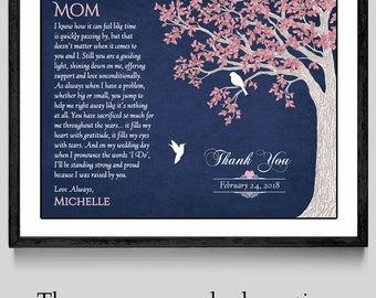 Mother Of The Bride Gift - Wedding Gift For Mom - Mother Of The Bride Poem - Mother Wedding Gift - Thank You Mom - Parents Wedding Gift