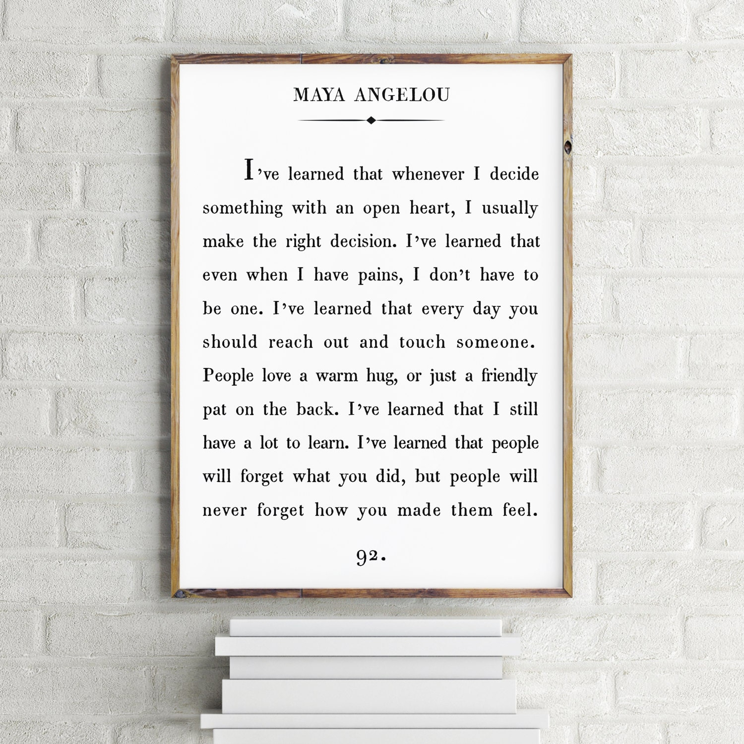 Love Quotes Maya Angelou Maya Angelou Quote Print Custom Text Print Inspirational