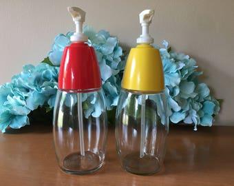 Gemco Ketchup and Mustard Dispenser Set