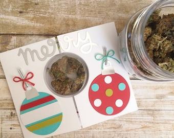 Merry Kushmas - Christmas Cannabis Greeting Card