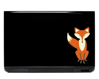Sly Fox Vinyl Sticker Laptop Decal | animal decal laptop decal macbook decal car window decal fox decor stickers for laptops laptop sticker