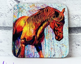 HORSE coaster, horse coaster, mug coaster, horse lover, table coaster, drinks coaster, equine horse , horse gift, equine gift