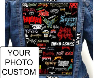 Indestructible Custom Personalized Embroidered Photo Quality Print BACK Patch