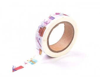 Roll of 10 m masking tape gifts of Christmas 15 mm