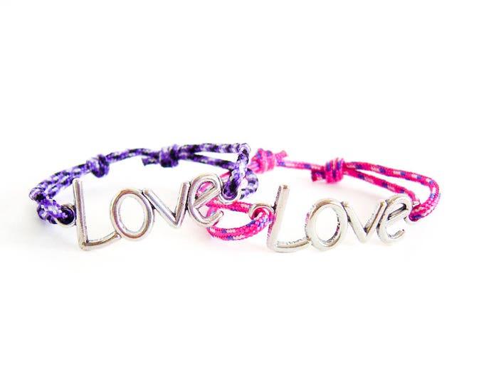 Girlfriend Bracelet, Girlfriend Boyfriend Matching, Girlfriend Jewelry Gift For Birthday. Love Charm Wrap Bracelet. Men Suitable