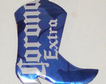 WESTERN BOOT Magnet - Corona Extra Beer Can