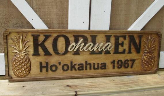 Hawaiian Wedding Gift Ideas: Custom Decor Signs Hawaiian Ohana Wedding Gifts Personalized