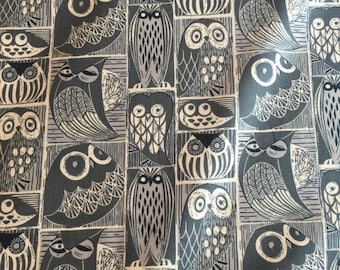 Owls on Indigo from the Blue Moon Collection for Dear Stella Designs