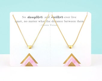 Mothers Day Gift Necklace Set | Heart Necklace | Mom Gift | Matching Necklace | Mothersday Gift | Jewelry Set | Mother Necklace | Reminder