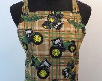 Handmade John Deere tractor apron.