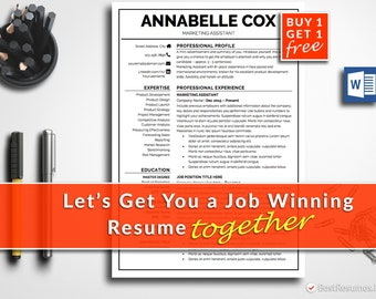 Professional Resume Template Modern Resume Design Free Resume Template CV Template Resume Template Word Modern CV Cover Letter CV Design