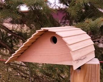 Functional wood garden decor bird house Outdoor wooden functional birdhouse Handmade wooden outdoor birdhouse rustic cedar outdoor birdhouse