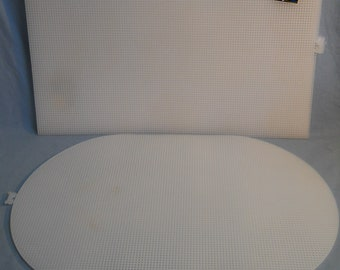 "12 NEW Darice Plastic Canvas Mesh Sheets 12"" x 18"" Rectangle Oval 7 Count"