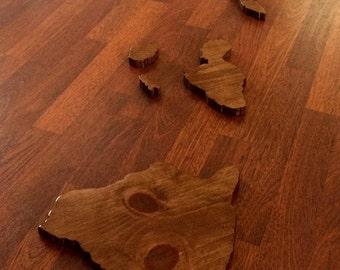 Handcrafted Wooden Hawaiian Island Chain