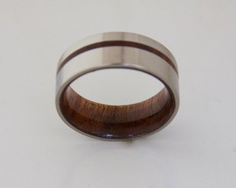 titanium and wood rings antler rings by dimaltagioielli on Etsy